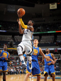 Golden State Warriors v Memphis Grizzlies: O.J. Mayo and Andris Biedrins Photographic Print by Joe Murphy