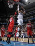 New Jersey Nets v Dallas Mavericks: Shawn Marion and Johan Petro Photographic Print by Danny Bollinger