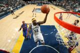 Detroit Pistons v Memphis Grizzlies: Zach Randolph Photographic Print by Joe Murphy