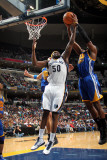 Golden State Warriors v Memphis Grizzlies: Zach Randolph and Jeff Adrien Photographic Print by Joe Murphy