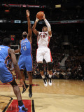 Oklahoma City Thunder v Toronto Raptors: James Harden and Leandro Barbosa Photographic Print by Ron Turenne