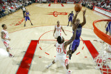 Sacramento Kings v Houston Rockets: Carl Landry and Jordan Hill Photographic Print by Bill Baptist