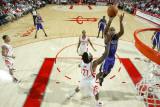 Sacramento Kings v Houston Rockets: Carl Landry and Jordan Hill Photographic Print by Bill Baptist
