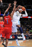 Los Angeles Clippers v Denver Nuggets: Carmelo Anthony and Craig Smith Photographic Print by Garrett Ellwood