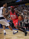 New Jersey Nets v Dallas Mavericks: Anthony Morrow and Tyson Chandler Photographic Print by Glenn James