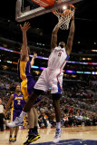 Los Angeles Lakers v Los Angeles Clippers: DeAndre Jordan and Pau Gasol Photographic Print by Stephen 