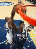 Charlotte Bobcats v Memphis Grizzlies: Darrell Arthur and Kwame Brown Photographic Print by Joe Murphy