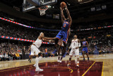 New York Knicks v Cleveland Cavaliers: Raymond Felton and Jamario Moon Photographic Print by David Liam Kyle