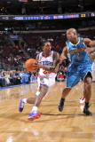 New Orleans Hornets v Philadelphia 76ers: Lou Williams and Jarrett Jack Photographic Print by David Dow