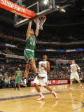 Boston Celtics v Charlotte Bobcats: Semih Erden and Dominic McGuire Photographic Print by Kent Smith