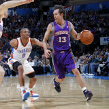 Phoenix Suns v Oklahoma City Thunder: Steve Nash and Russell Westbrook Photographic Print by Layne Murdoch