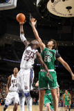 Boston Celtics v New Jersey Nets: Johan Petro and Semih Erden Photographic Print by Nathaniel S. Butler