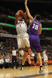 Phoenix Suns v Charlotte Bobcats: Derrick Brown and Hedo Turkoglu Photographic Print by Kent Smith