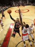 Chicago Bulls v Toronto Raptors: Taj Gibson and Amir Johnson Photographic Print by Ron Turenne