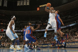 New York Knicks v Denver Nuggets: Gary Forbes and Danilo Gallinari Photographic Print by Doug Pensinger