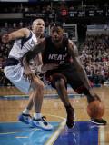 Miami Heat v Dallas Mavericks: LeBron James and Jason Kidd Photographic Print by Glenn James
