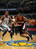 Portland Trail Blazers v Memphis Grizzlies: Andre Miller and Mike Conley Photographic Print by Joe Murphy