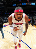 Indiana Pacers v Atlanta Hawks: Josh Smith Fotografisk tryk af Scott Cunningham