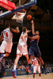 Atlanta Hawks v New York Knicks: Al Horford, Anthony Randolph and Timofey Mozgov Photographic Print by Jeyhoun Allebaugh