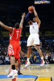 Houston Rockets v Oklahoma City Thunder: Russell Westbrook and Kyle Lowry Photographic Print by Larry W. Smith