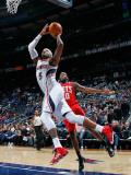 New Jersey Nets v Atlanta Hawks: Damion James and Josh Smith Photographic Print by Kevin Cox