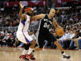 San Antonio Spurs v Los Angeles Clippers: Richard Jefferson and Baron Davis Photographie par Harry How