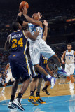Utah Jazz v New Orleans Hornets: David West and Paul Millsap Photographic Print by Layne Murdoch