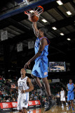 Tulsa 66ers v Texas Legends: Larry Owens and Antonio Daniels Photographic Print by Layne Murdoch