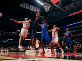 Orlando Magic v Chicago Bulls: Carlos Boozer, Rashard Lewis, Dwight Howard and Joakim Noah Photographic Print by Jonathan Daniel