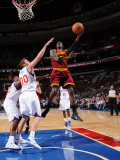Cleveland Cavaliers  v Philadelphia 76ers: J.J. Hickson and Spencer Hawes Photographic Print by Jesse D. Garrabrant