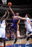 Los Angeles Lakers v Philadelphia 76ers: Kobe Bryant, Jrue Holiday and Andres Nocioni Photographic Print by Jesse D. Garrabrant