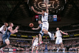 Minnesota Timberwolves v Dallas Mavericks: Luke Ridnour, Kevin Love and Tyson Chandler Photographic Print by Glenn James