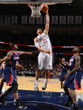 Atlanta Hawks v New Jersey Nets: Brook Lopez, Josh Smith and Marvin Williams Photographic Print by Jesse D. Garrabrant
