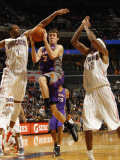 Phoenix Suns v Charlotte Bobcats: Goran Dragic and Derrick Brown Photographic Print by Kent Smith
