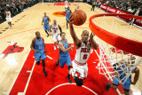 Oklahoma City Thunder v Chicago Bulls: Keith Bogans, Nenad Krstic, Kevin Durant and Eric Maynor Photographic Print by Joe Murphy