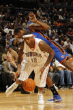New York Knicks v Charlotte Bobcats: Tyrus Thomas Photographic Print by Kent Smith
