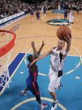 Detroit Pistons v Dallas Mavericks: Jason Kidd and Rodney Stuckey Photographic Print by Glenn James