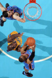 Oklahoma City Thunder v New Orleans Hornets: Russell Westbrook and Emeka Okafor Photographic Print by  Chris