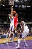Houston Rockets v Sacramento Kings: Kyle Lowry and Carl Landry Photographic Print by Rocky Widner