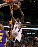 Los Angeles Lakers v Los Angeles Clippers: DeAndre Jordan Photographic Print by Stephen Dunn