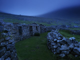 Abandoned Stone-Walled Homes at Village Bay Photographic Print by Jim Richardson