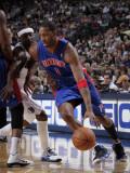 Detroit Pistons v Dallas Mavericks: Tracy McGrady and Jason Terry Photographic Print by Glenn James