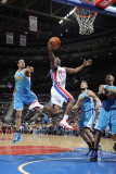 New Orleans Hornets v Detroit Pistons: Ben Gordon and Trevor Ariza Photographic Print by Allen Einstein