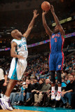 Detroit Pistons v New Orleans Hornets: Rodney Stuckey and Jarrett Jack Photographic Print by  Chris