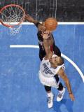 Miami Heat v Orlando Magic: Jameer Nelson and Chris Bosh Photographic Print by Fernando Medina