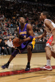 Los Angeles Lakers v Toronto Raptors: Kobe Bryant and DeMar DeRozan Photographic Print by Ron Turenne
