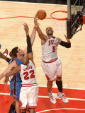 Oklahoma City Thunder v Chicago Bulls: Carlos Boozer, Taj Gibson and Nick Collison Photographic Print by Joe Murphy