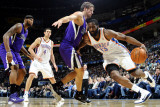 Sacramento Kings v Oklahoma City Thunder: James Harden and Beno Udrih Photographic Print by Larry W. Smith