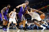 Sacramento Kings v Oklahoma City Thunder: James Harden and Beno Udrih Photographic Print by Larry W. Smith