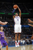 Phoenix Suns v Oklahoma City Thunder: Russell Westbrook Photographic Print by Layne Murdoch